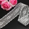 Lace trimmings, white, 2.5cm x 2m, 1 piece, (LHP034)
